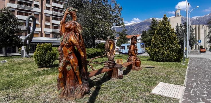 Franco Iezzi sculptures, Sulmona, Abruzzo, Italy, Europe