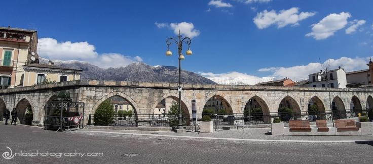 Aqueduct, Sulmona, Abruzzo, Italy, Europe