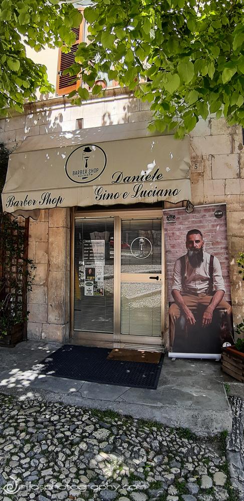 Barber Shop, Street scenes, Sulmona, Abruzzo, Italy, Europe