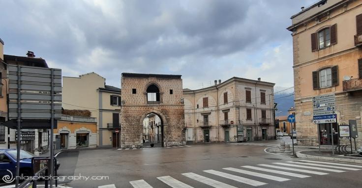 Porta Napoli, Sulmona, Abruzzo, Italy, Europe