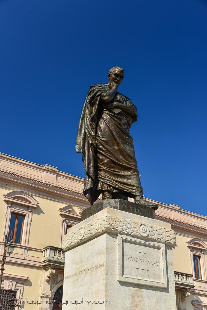 Ovidio statue, Sulmona, Abruzzo, Italy, Europe