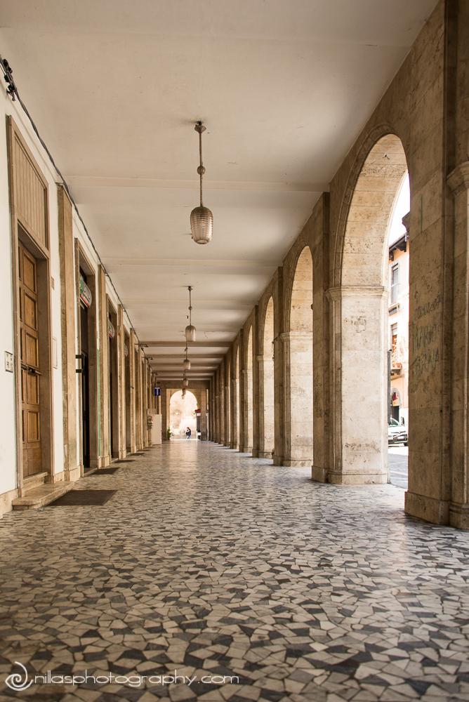 Street scene in Sulmona, Abruzzo, Italy, Europe