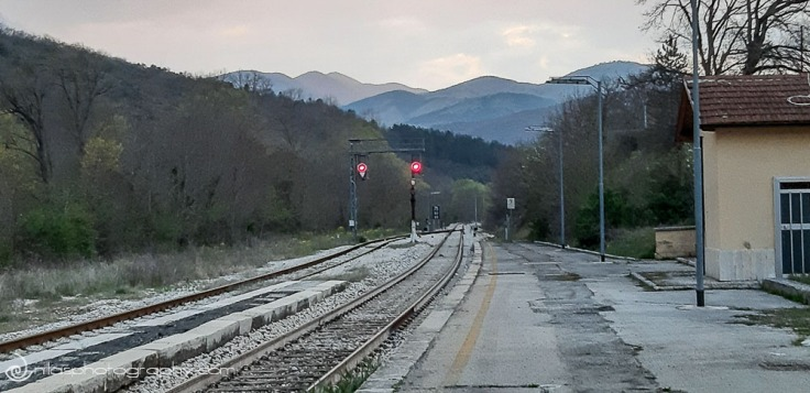Sulmona-L'Aquila train line, Abruzzo, Italy, Europe