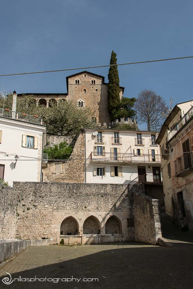 Castello di Gagliano Aterno, Centro Storico, Abruzzo, Italy Europe