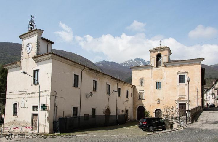 Facciata della Chiesa di Santa Chiara, Gagliano, Abruzzo, Italy, Europe