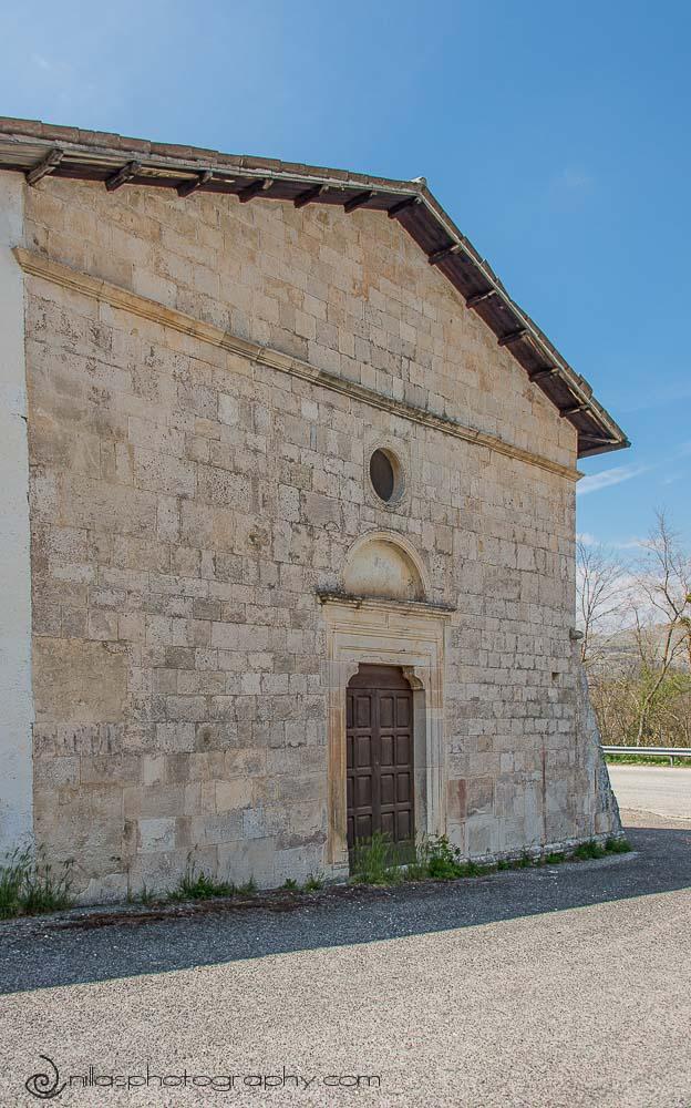 Cemetery entrance, Centro Storico, Gagliano Aterno, Abruzzo, Italy, Europe