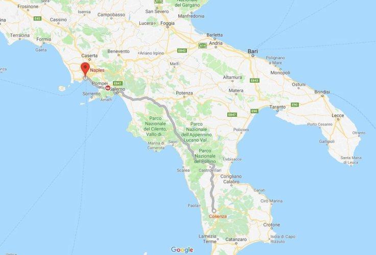 Cosenza to Naples, Calabria, Abruzzo, Italy, Europe