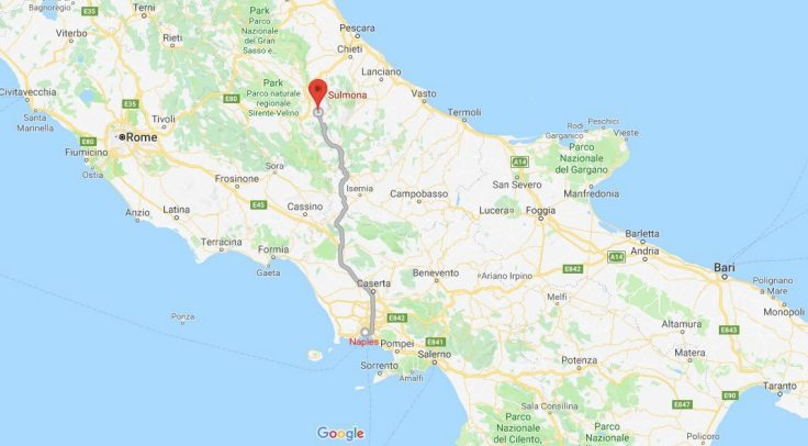 Naples to Sulmona, Abruzzo, Italy, Europe