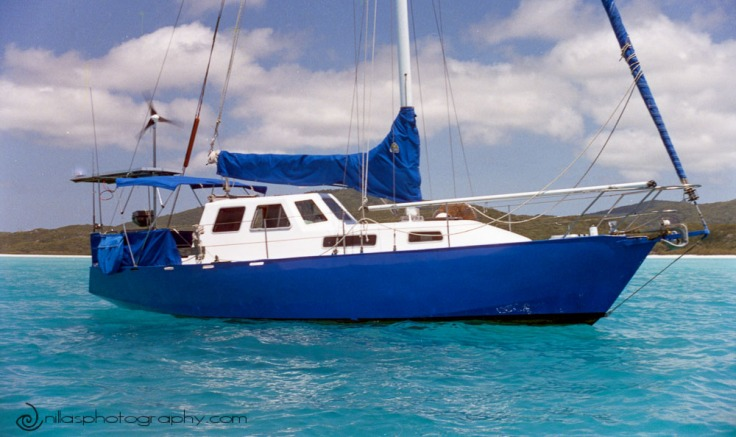 Boat anchored, Whitsunday Islands, Queensland, Australia, Oceania