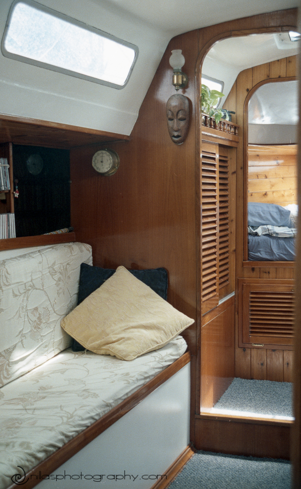 Saloon, Below decks of a sailing boat, Brisbane, Queensland, Australia, Oceania