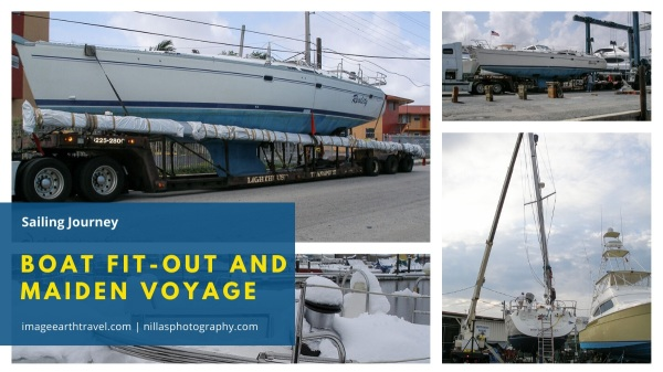 Catalina 470 fit-out and maiden voyage, Miami, Florida, USA