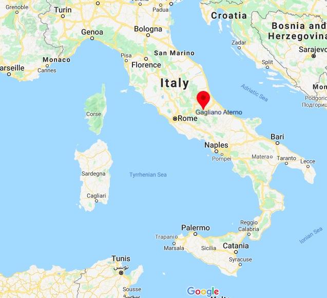 Gagliano Aterno map, Abruzzo, Italy, Europe