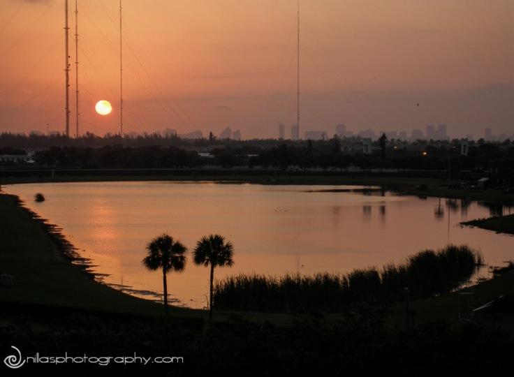 Sunset in Miami, Florida, USA