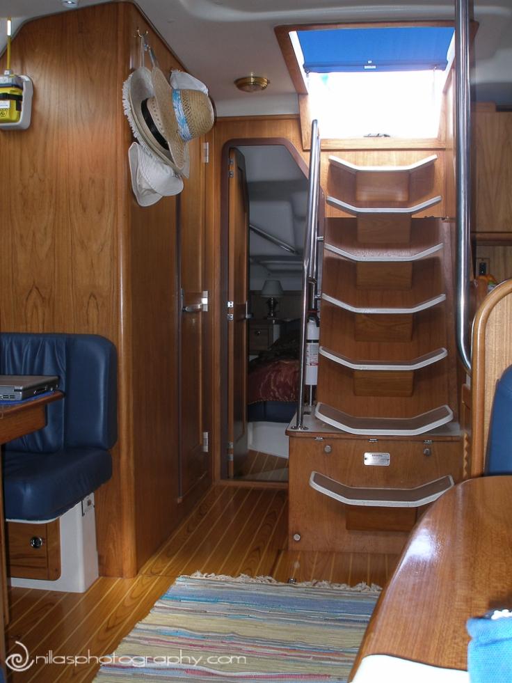 Catalina 470 below decks, Huntington, Long Island, New York, USA