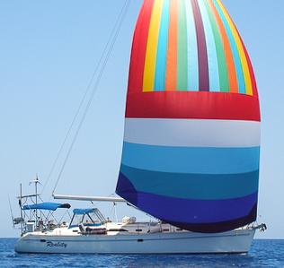 Catalina 470 under sail, USA, Caribbean