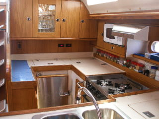 Galley, Catalina 47', Long Island, New York, USA