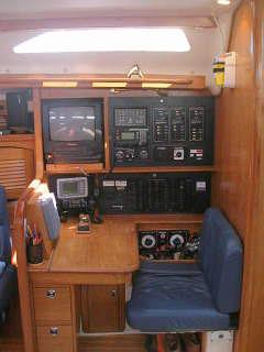Nav station, Catalina 47', Long Island, New York, USA