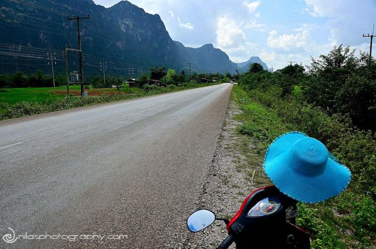 Highway scene, Thak Kek, Laos, SE Asia