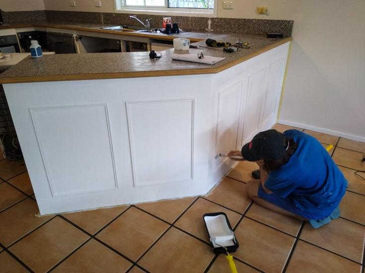 renovating kitchen cupboard, Brisbane, Australia, Oceania