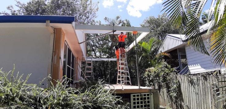 roof install, renovating alfresco, house, Brisbane, Australia, Oceania