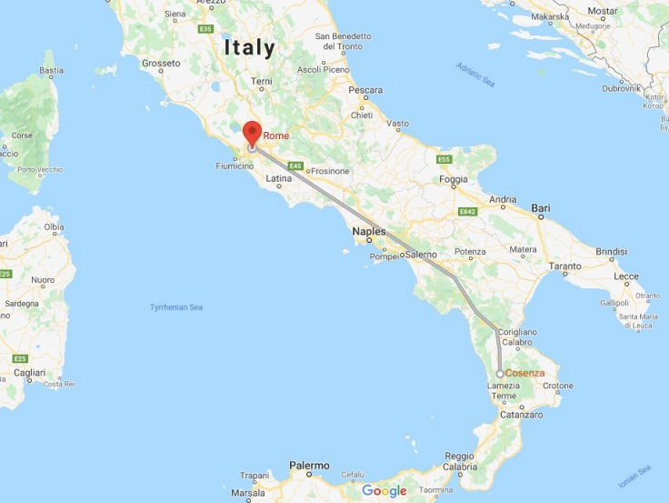 Bus Cosenza to Rome, Calabria, Italy, Europe