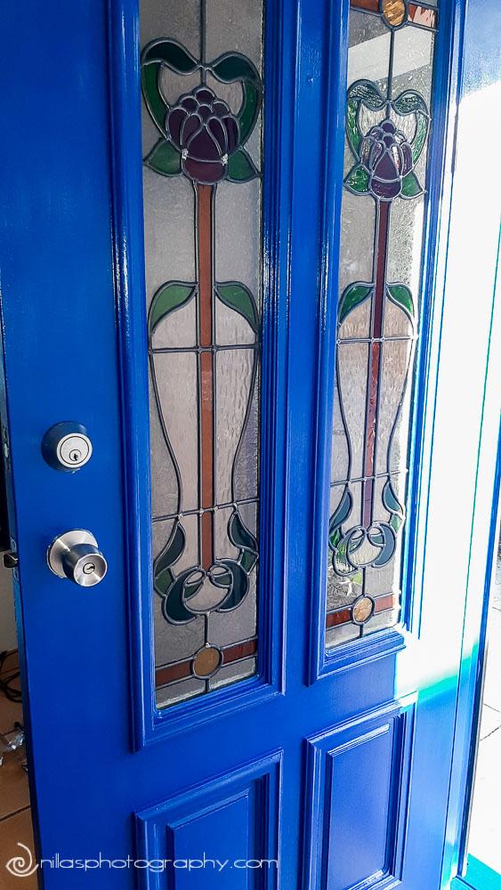 Renovating, leadlight door, Brisbane, Queensland, Australia, Oceania