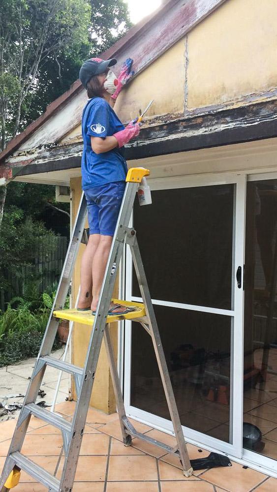 tar flashing, renovating alfresco, house, Brisbane, Australia, Oceania