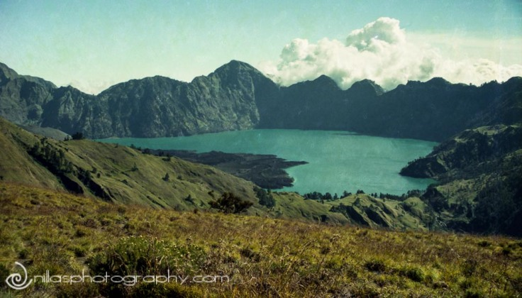Crater Lake, Mt Rinjani, Lombok, Indonesia, South East Asia