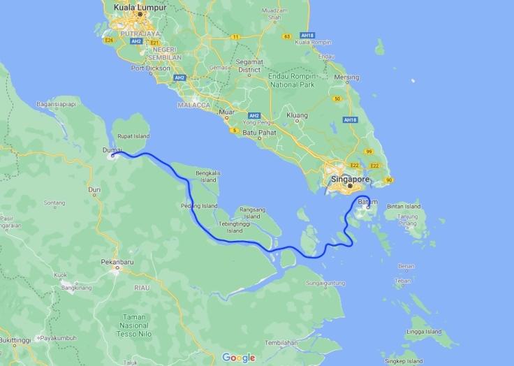 Ferry from Batam to Dumai, Sumatra, Indonesia, South East Asia