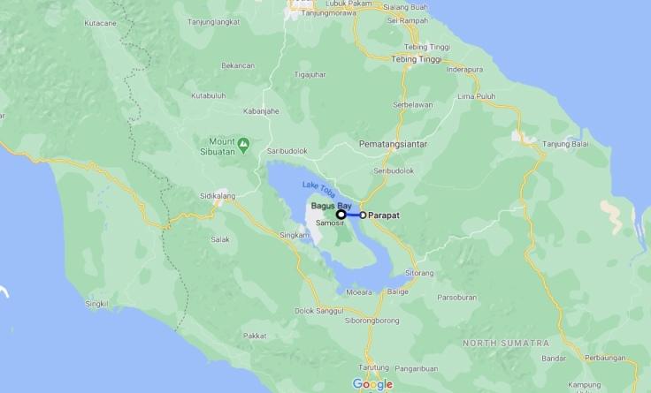 Ferry from Parapat to Bagus Bay, Samosir Island, Lake Toba, Sumatra, Indonesia, SE Asia