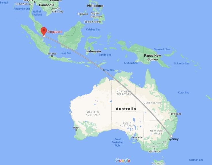 Flight Sydney, Australia, Oceania to Singapore, South East Asia