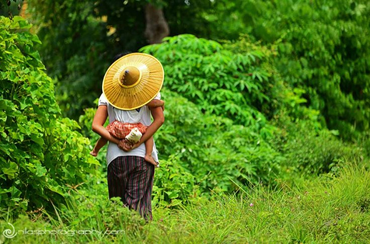 mother and child, Hsipaw, Burma, Myanmar, SE Asia