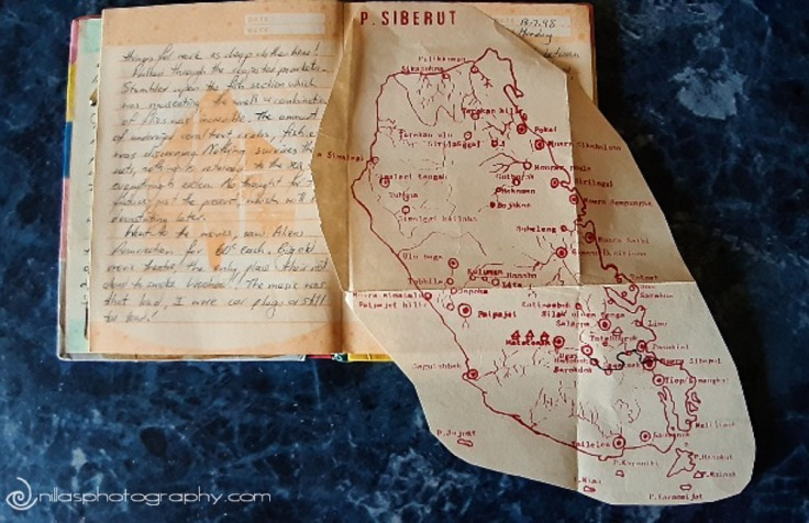 map of Siberut Island, Sumatra, Indonesia, SE Asia