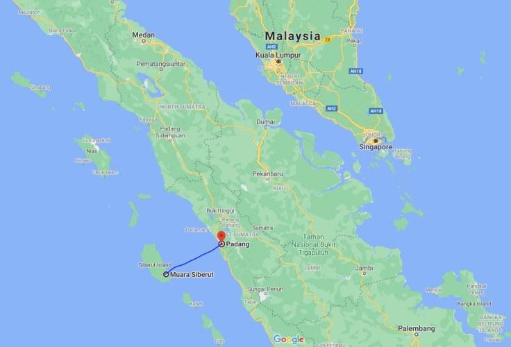 Siberut Island to Padang, Sumatra, Indonesia, SE Asia