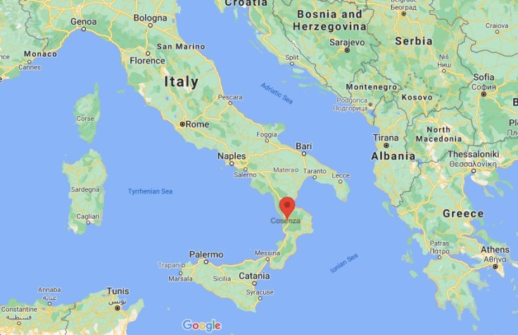 map of Cosenza, Calabria, Italy, Europe