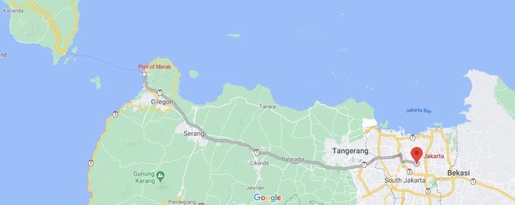 Public bus from Port of Merak to Jakarta, Java, Indonesia, SE Asia