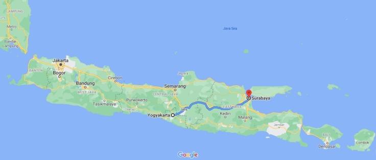 Train from Yogyakarta to Surabaya, Central Java, Indonesia, SE Asia