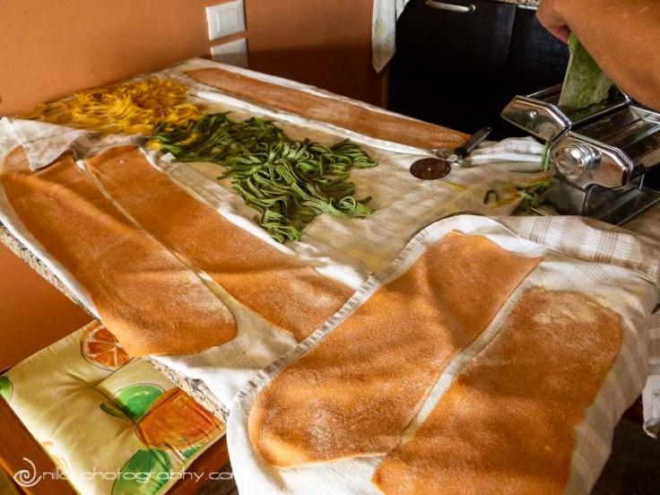 Pasta making, Poverella, Sila National Park, Calabria, Italy, Europe