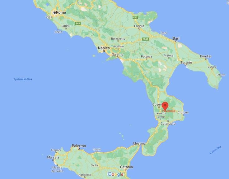 map of Poverella, Calabria, Italy, Europe