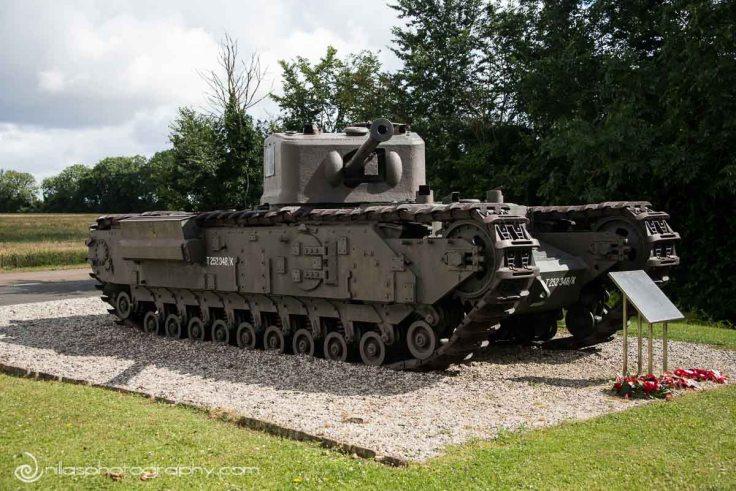 British Churchill Tank, Hill 112 Vieux, Normandy, France, Europe