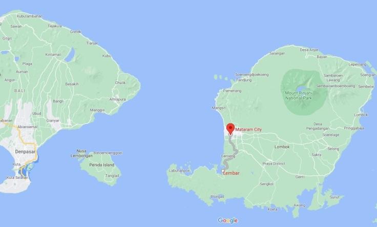 Lembar to Mataram, Lombok, Indonesia, SE Asia